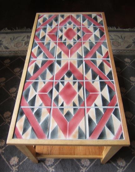 Navajo Tile Cofee Table by George Woideck of Artisan Architectural Ceramics
