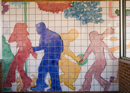 Clark Metro Ceramic Tile Entrance Mural by George Woideck of Artisan Architectural Ceramics