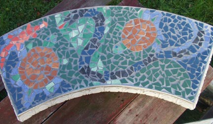 Ceramic Tile Garden Bench by George Woideck of Artisan Architectural Ceramics