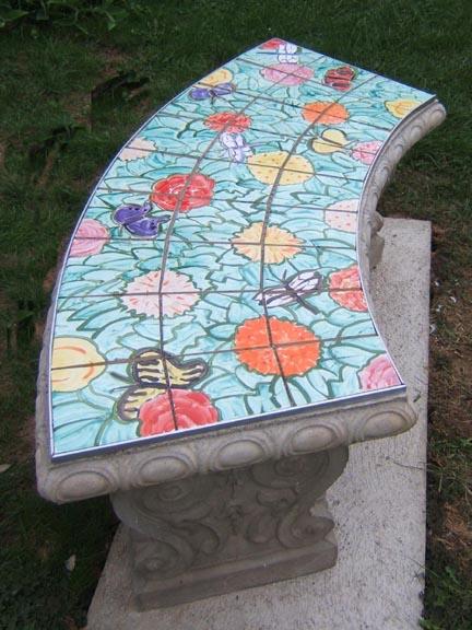 Artisan Architectural Ceramics Garden Benches