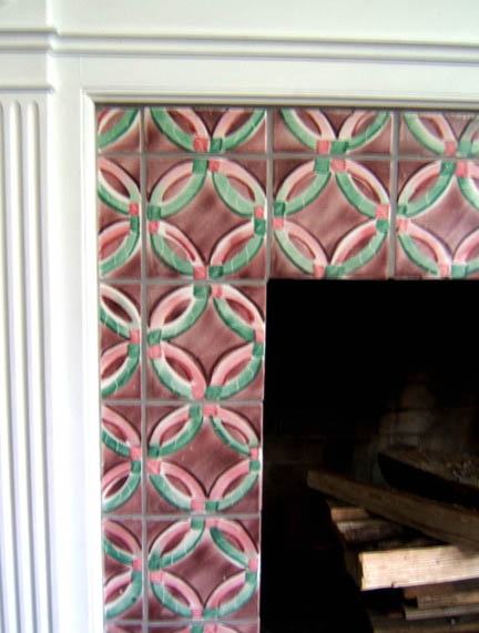 Ceramic Tile Fireplace Surround by George Woideck of Artisan Architectural Ceramics