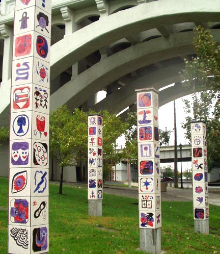 Unity Walk Tile Columns by George Woideck